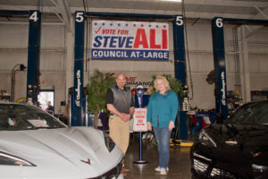 Steve Ali and County Commissioner Michelle Hung